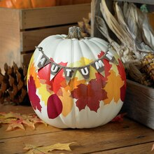 Autumn Leaves Pumpkin, medium