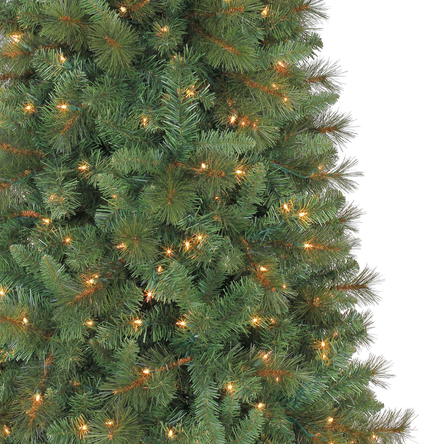 7 Ft. Pre-Lit Green Full Willow Pine Artificial Christmas Tree ...