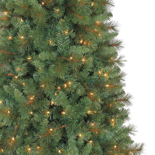 7 Ft Pre Lit Green Full Willow Pine Artificial Christmas Tree  - 7 Ft Artificial Christmas Trees