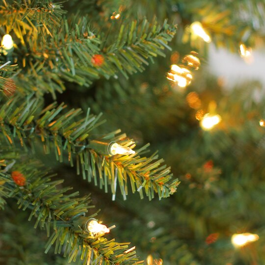 75 ft pre lit green full hartford pine artificial christmas tree clear lights by ashland - Pre Lighted Christmas Trees