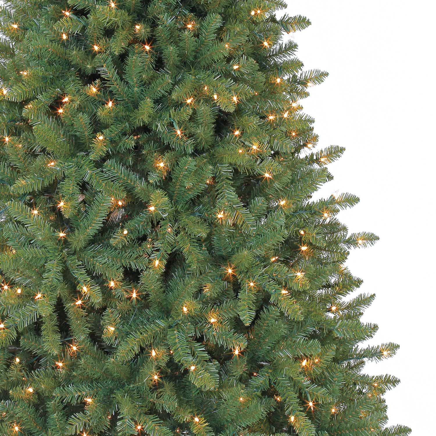 7.5 Ft. Pre-Lit Green Full Hartford Pine Artificial Christmas Tree ...