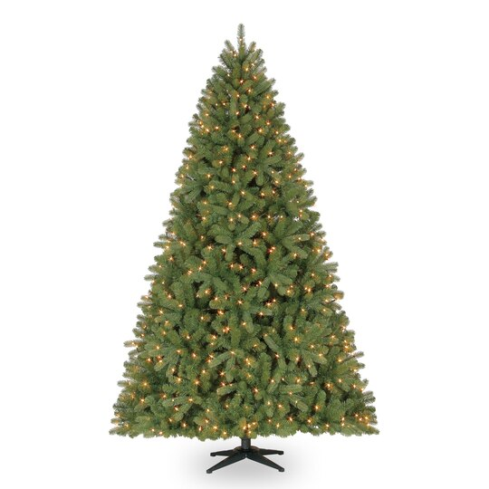 75 ft pre lit full hamilton pine mixed artificial christmas tree clear lights by ashland - White Fake Christmas Trees