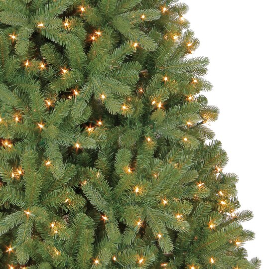 75 ft pre lit full hamilton pine mixed artificial christmas tree clear lights by ashland - Full Artificial Christmas Trees