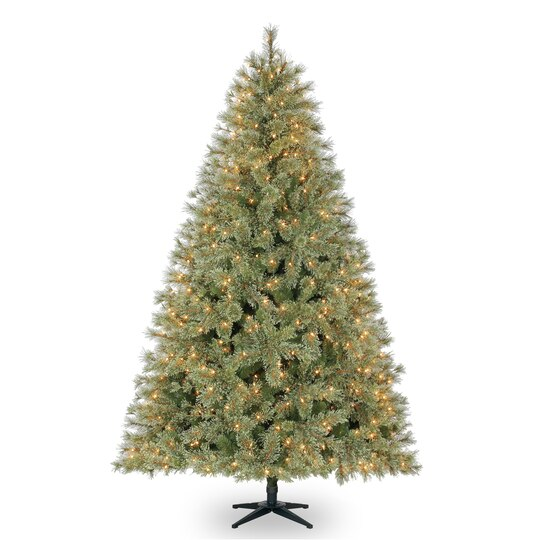 75 ft pre lit jasper cashmere artificial christmas tree clear lights by ashland - Artificial Christmas Trees With Lights