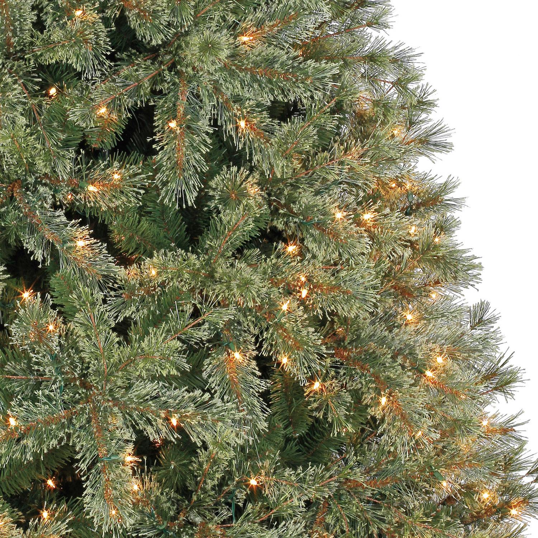 7.5 Ft. Pre-Lit Jasper Cashmere Artificial Christmas Tree, Clear ...