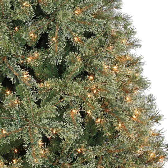 75 ft pre lit jasper cashmere artificial christmas tree clear lights by ashland - Pre Lit Christmas Trees