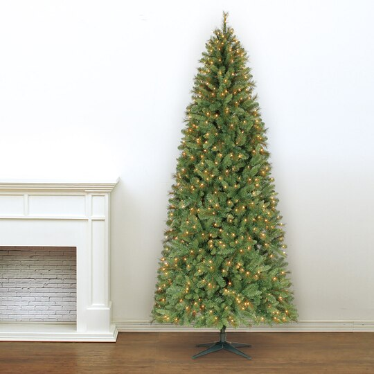 9 Ft. Pre-Lit Slim Willow Pine Artificial Christmas Tree, Clear Lights by  Ashland