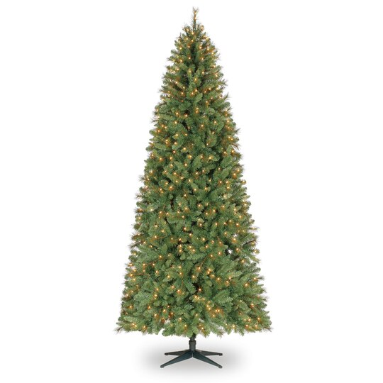 9 ft pre lit slim willow pine artificial christmas tree clear lights by ashland - 9 Ft Christmas Tree