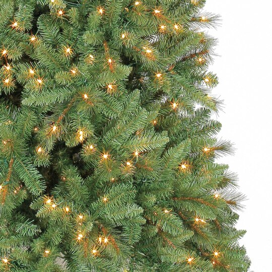 9 ft pre lit slim willow pine artificial christmas tree clear lights by ashland - Artificial Christmas Trees With Lights