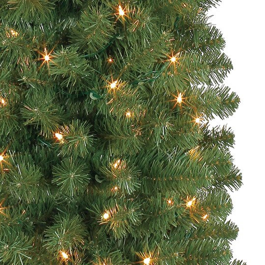 7 ft pre lit green pencil artificial christmas tree clear lights by ashland - 7 Pre Lit Christmas Tree