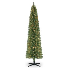 Celebrate It Pre-Lit Pencil Christmas Tree, 7 ft.