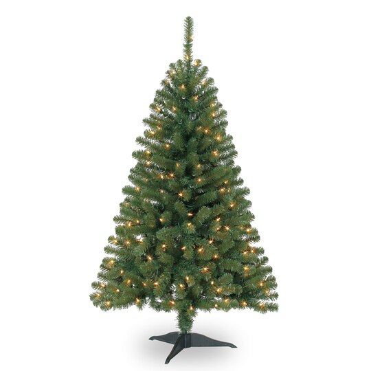 4 ft pre lit hillside pine artificial christmas tree clear lights by ashland - Christmas Tree Pre Lit