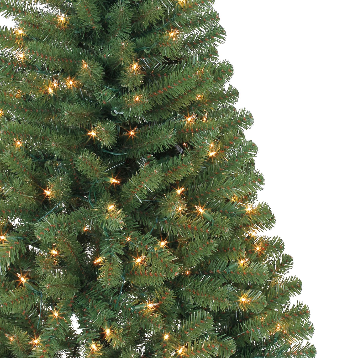 4 Ft. Pre-Lit Hillside Pine Artificial Christmas Tree, Clear ...