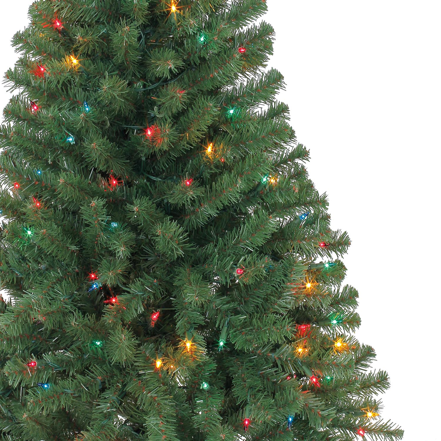 4 Ft. Pre-Lit Hillside Pine Artificial Christmas Tree, Multicolor ...
