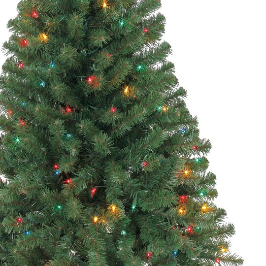 4 ft pre lit hillside pine artificial christmas tree multicolor lights by ashland - Artificial Christmas Trees