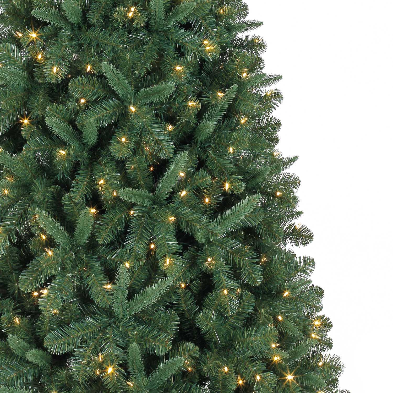 7.5 Ft. Pre-Lit Green Full Kensington Pine Artificial Christmas ...