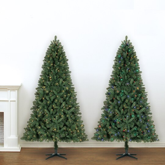75 ft pre lit green full kensington pine artificial christmas tree color changing led lights by ashland - Christmas Tree Led
