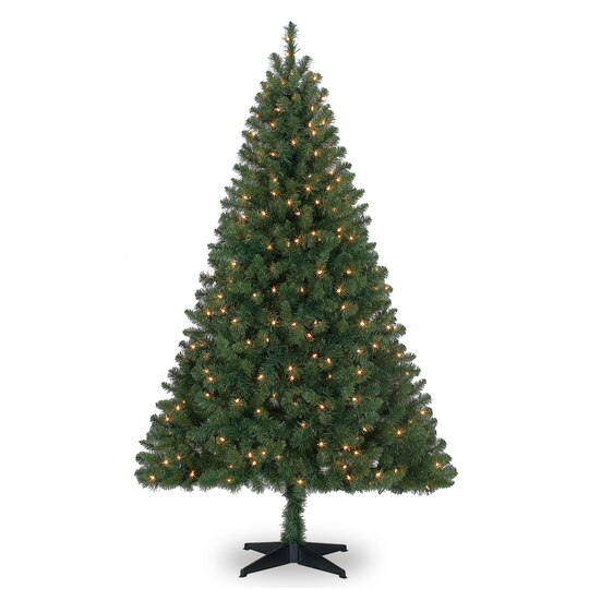 6 ft pre lit green full windham spruce artificial christmas tree clear lights by ashland - 6 Ft Christmas Tree
