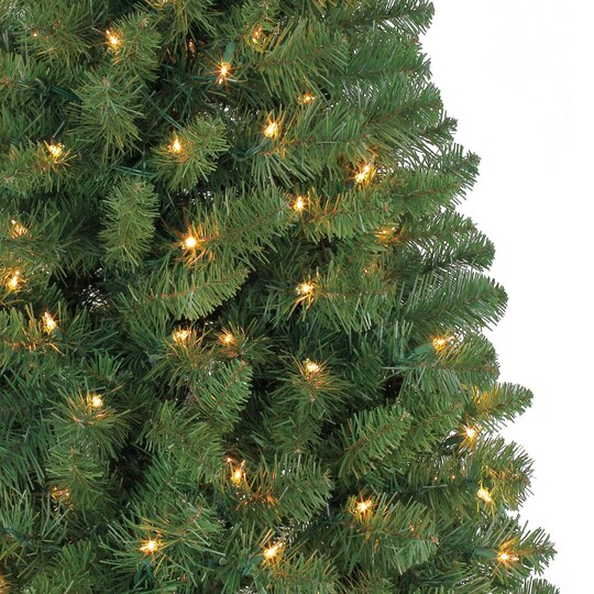 6 ft pre lit green full windham spruce artificial christmas tree clear lights by ashland - Artificial Christmas Trees