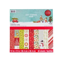 """12"""" x 12"""" Say Freeze Paper Pad by Recollections"""