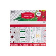 """12"""" x 12"""" Christmas Coloring Paper Pad by Recollections"""