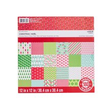 """12"""" x 12"""" Christmas Holiday Basics Paper Pad by Recollections"""