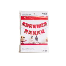Santa's Belt Santa Baby Banner By Recollections