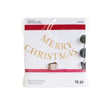 Gold Glitter Merry Christmas Banner By Recollections