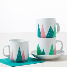 Martha Stewart Crafts® Christmas Tree Mugs, medium