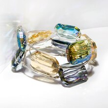 Beaded Wire Bangles, medium