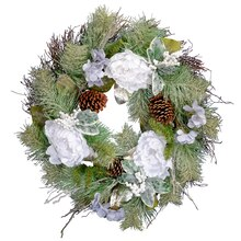 White Peony Mix Wreath By Ashland