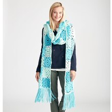 Caron® Cakes™ Patchwork Crochet Super Scarf, medium