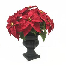Deluxe Red Poinsettia Urn By Ashland