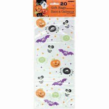 Spooky Smiles Halloween Cellophane Bags, 20ct