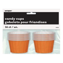 Orange Paper Candy and Condiment Cups, 16ct