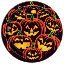 "7"" Pumpkin Grin Halloween Party Plates, 8ct"