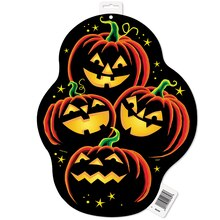 Paper Cutout Pumpkin Grin Halloween Decoration, 16.5""