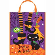 "Large Plastic Spooky Boots Halloween Favor Bag, 15"" x 12"""