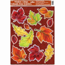 Crisp Leaves Fall Window Clings Sheet