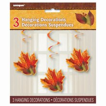 Hanging Fall Beauty Decorations, 3ct Pack