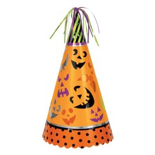 Jumbo Pumpkin Faces Halloween Party Hat Decoration, 13""