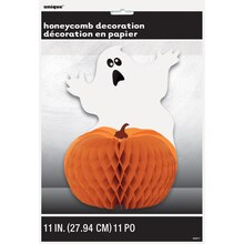 "Scaredy Ghost and Pumpkin Halloween Centerpiece Decoration, 11"" Pack"