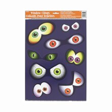 Eyeballs Halloween Window Clings Sheet