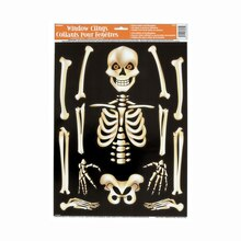 Skeleton Halloween Window Clings Sheet