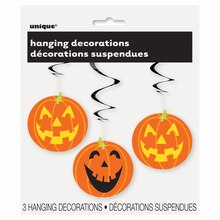 Hanging Pumpkin Halloween Decorations, 3ct Pack