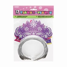 Glitter Tiaras, Assorted 12ct Pack