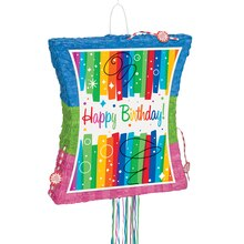Rainbow Birthday Pinata, Pull String