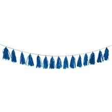 Royal Blue Tissue Paper Tassel Garland, 9 Ft