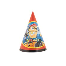 Gold Tooth Pirate Party Hats, 8ct