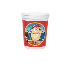 16oz Gold Tooth Pirate Plastic Cup, medium